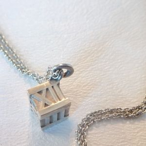Tiffany & Co Atlas Cube Pendant Necklace